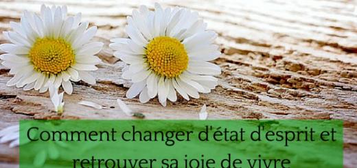 Comment changer d'état d'esprit et retrouver sa joie de vivre