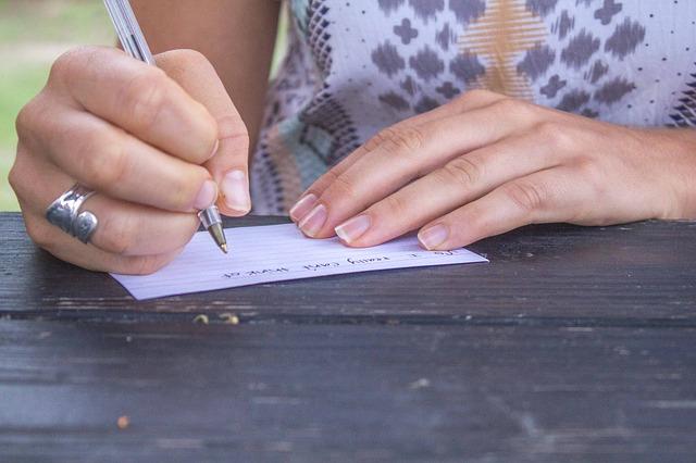 ecrivez votre pensée négative